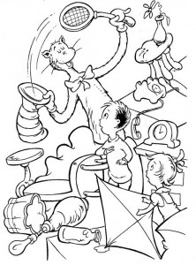 coloring page Cat in the Hat (33)