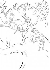 coloring page Cat in the Hat (7)