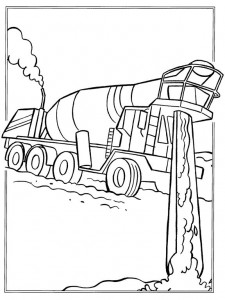 coloring page Pouring cement