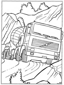 coloring page Cement cart
