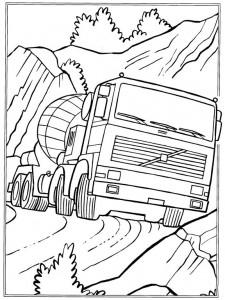 målarbok Cementvagn