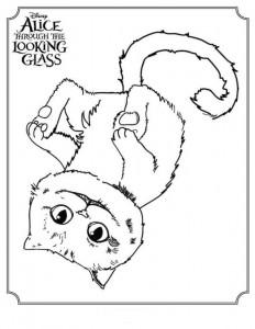 kleurplaat Cheshire Cat (3)