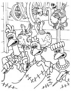 målarbok Chicken Run (29)