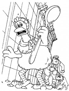 målarbok Chicken Run (4)