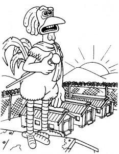 målarbok Chicken Run (5)