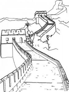 раскраска Китайская стена, Китай