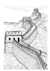 coloring Chinese wall