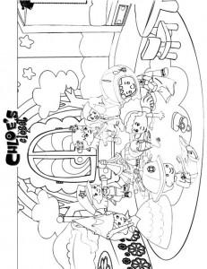 målarbok Chloes Magic skåp