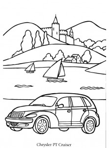 coloriage chrysler pt cruiser