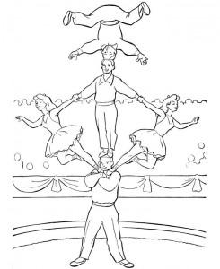 kleurplaat Circus (16)