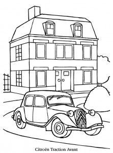 coloriage citron traction avant