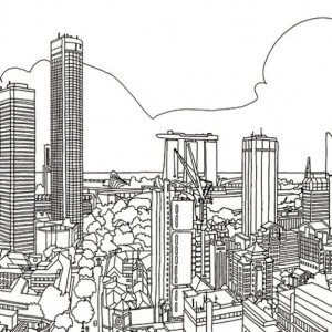 coloring page city-2