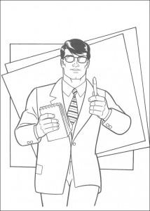 kleurplaat Clark Kent (1)