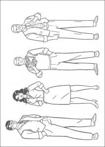 målarbok Clark, Loïs, Jimmy och Perry