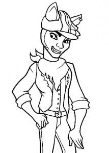 coloring page Clawd Wolf