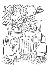 coloring page clifford