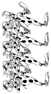 målarbok Clowns (1)