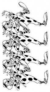 kleurplaat Clowns (1)