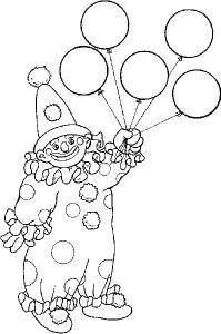 kleurplaat Clowntje