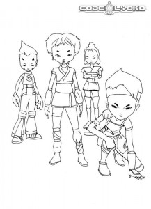 coloring page Code Lyoko (2)