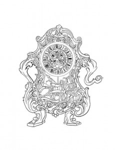 coloring page cogsworth 2