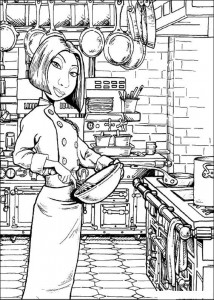 coloring page Colette