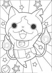 målarbok coloriage-yokai-watch-14381