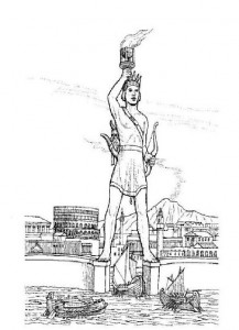 coloring page Colossus, Rhodes