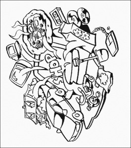 coloring page Computer (1)
