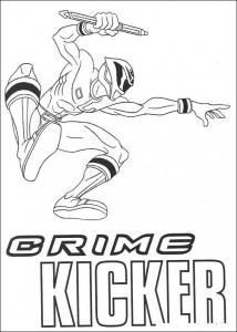 kleurplaat Crime Kicker