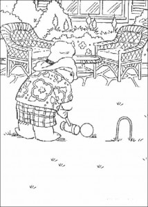 coloring page Playing croquet