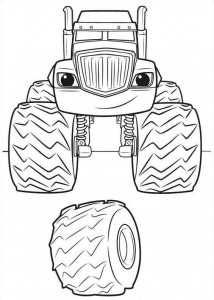 crusher coloring page