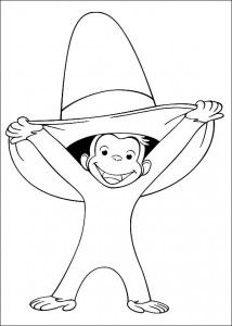 coloring page Curious George (1)