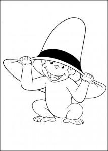 kleurplaat Curious George (11)
