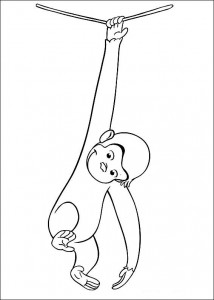 kleurplaat Curious George (13)