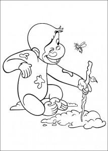 kleurplaat Curious George (3)