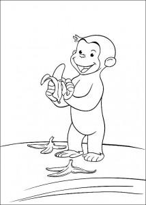 kleurplaat Curious George (4)