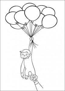kleurplaat Curious George (5)