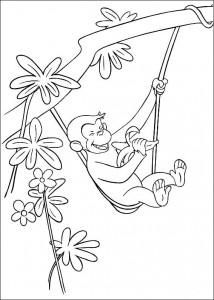 kleurplaat Curious George (6)