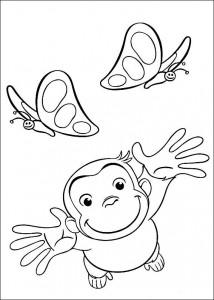 kleurplaat Curious George (8)