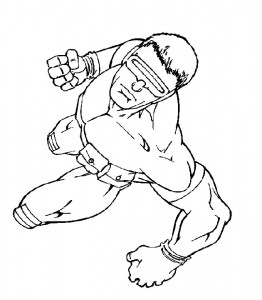 coloring page Cyclope