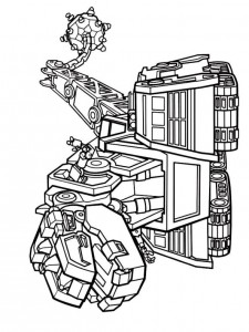 coloring page d-struct