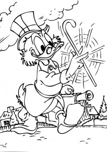 coloring page Dagobert Duck (11)