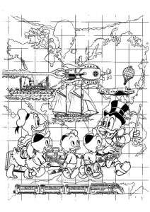 coloring page Dagobert Duck (22)