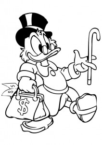 coloring page Dagobert Duck (6)
