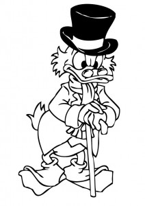 coloring page Dagobert Duck (8)
