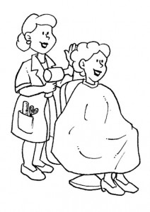 pagina da colorare Parrucchiere