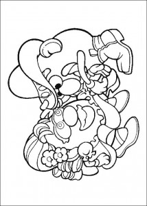 coloring page Little dance