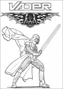 pagina da colorare Dart Vader