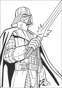 kleurplaat Darth Vader (1)